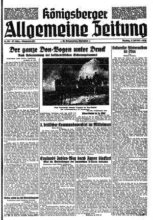 Königsberger allgemeine Zeitung vom 21.07.1942