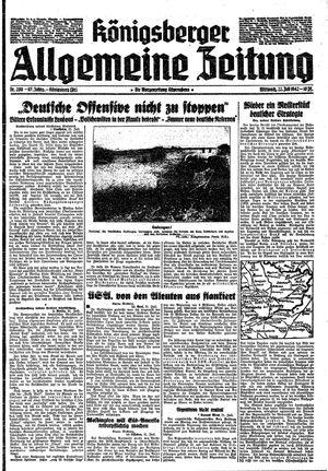 Königsberger allgemeine Zeitung vom 22.07.1942