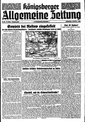 Königsberger allgemeine Zeitung vom 23.07.1942