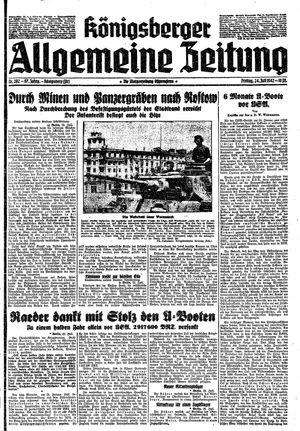 Königsberger allgemeine Zeitung vom 24.07.1942