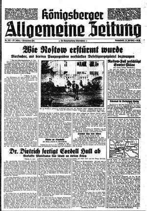 Königsberger allgemeine Zeitung vom 25.07.1942