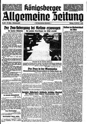 Königsberger allgemeine Zeitung vom 27.07.1942