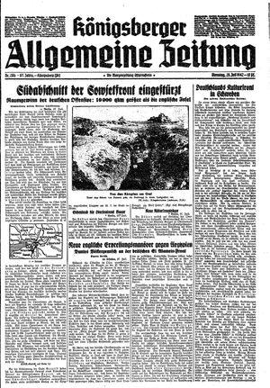 Königsberger allgemeine Zeitung vom 28.07.1942