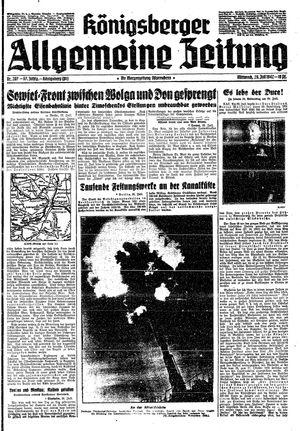 Königsberger allgemeine Zeitung vom 29.07.1942
