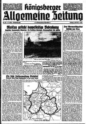 Königsberger allgemeine Zeitung vom 31.07.1942