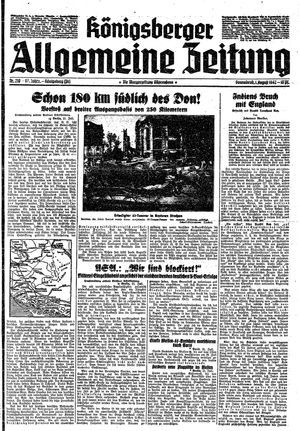 Königsberger allgemeine Zeitung vom 01.08.1942