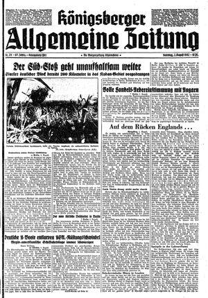 Königsberger allgemeine Zeitung vom 02.08.1942