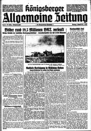 Königsberger allgemeine Zeitung vom 03.08.1942
