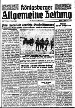 Königsberger allgemeine Zeitung vom 04.08.1942