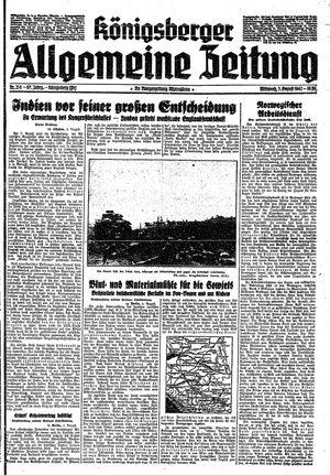 Königsberger allgemeine Zeitung vom 05.08.1942