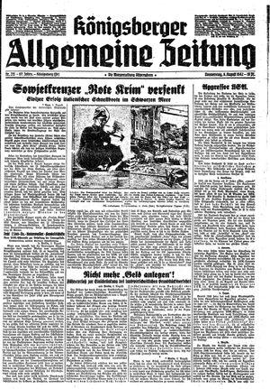 Königsberger allgemeine Zeitung vom 06.08.1942