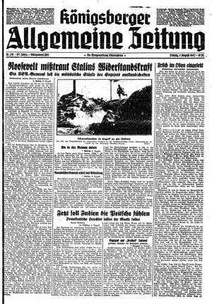 Königsberger allgemeine Zeitung vom 07.08.1942