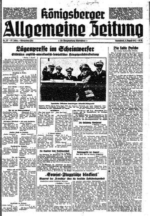 Königsberger allgemeine Zeitung vom 08.08.1942