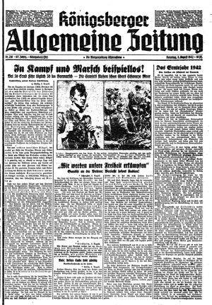 Königsberger allgemeine Zeitung vom 09.08.1942