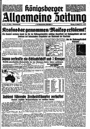 Königsberger allgemeine Zeitung vom 10.08.1942