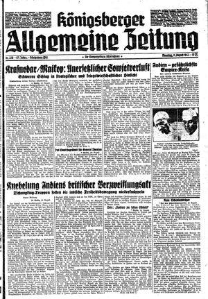 Königsberger allgemeine Zeitung vom 11.08.1942
