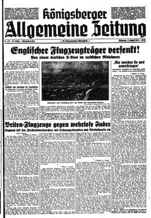 Königsberger allgemeine Zeitung vom 12.08.1942