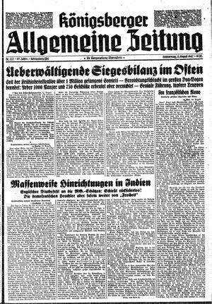 Königsberger allgemeine Zeitung vom 13.08.1942