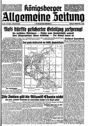 Königsberger allgemeine Zeitung vom 14.08.1942