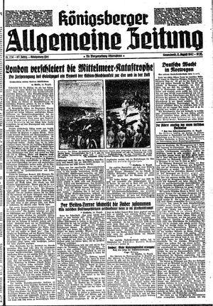 Königsberger allgemeine Zeitung vom 15.08.1942