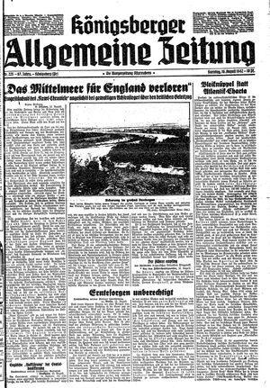 Königsberger allgemeine Zeitung vom 16.08.1942