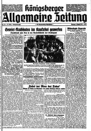 Königsberger allgemeine Zeitung vom 17.08.1942