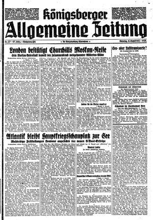 Königsberger allgemeine Zeitung vom 18.08.1942