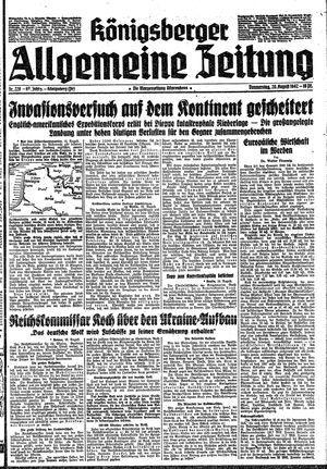 Königsberger allgemeine Zeitung vom 20.08.1942