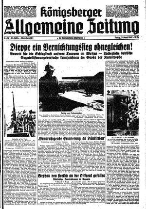 Königsberger allgemeine Zeitung vom 21.08.1942