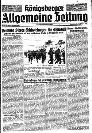 Königsberger allgemeine Zeitung vom 22.08.1942