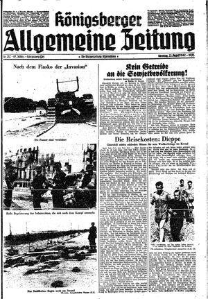 Königsberger allgemeine Zeitung vom 23.08.1942