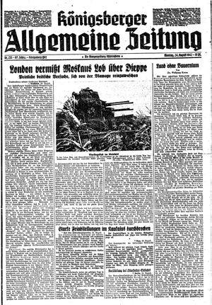 Königsberger allgemeine Zeitung on Aug 24, 1942