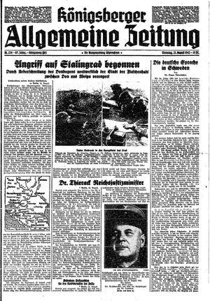 Königsberger allgemeine Zeitung vom 25.08.1942