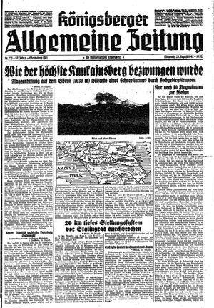 Königsberger allgemeine Zeitung vom 26.08.1942