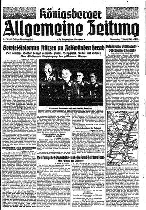 Königsberger allgemeine Zeitung vom 27.08.1942