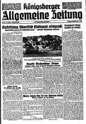 Königsberger allgemeine Zeitung vom 28.08.1942