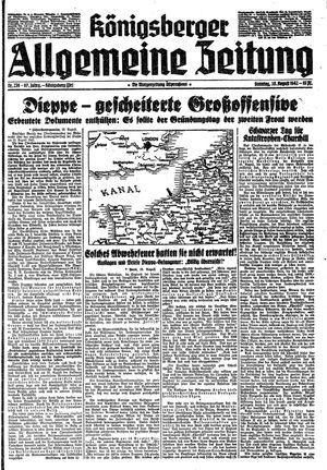 Königsberger allgemeine Zeitung vom 30.08.1942
