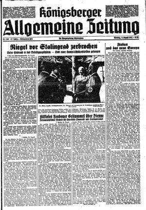 Königsberger allgemeine Zeitung vom 31.08.1942