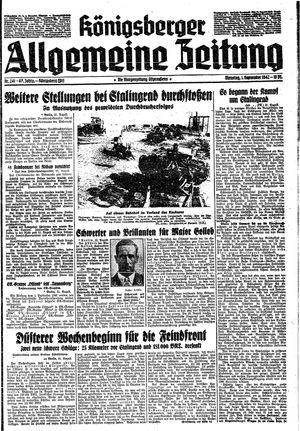 Königsberger allgemeine Zeitung on Sep 1, 1942