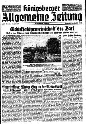 Königsberger allgemeine Zeitung vom 02.09.1942