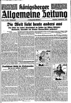 Königsberger allgemeine Zeitung vom 03.09.1942