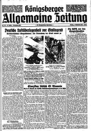 Königsberger allgemeine Zeitung vom 04.09.1942