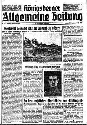 Königsberger allgemeine Zeitung vom 05.09.1942