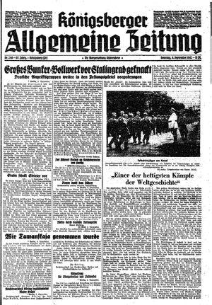 Königsberger allgemeine Zeitung vom 06.09.1942