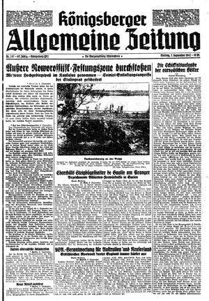 Königsberger allgemeine Zeitung vom 07.09.1942