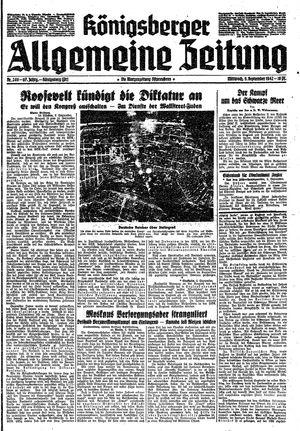 Königsberger allgemeine Zeitung vom 09.09.1942
