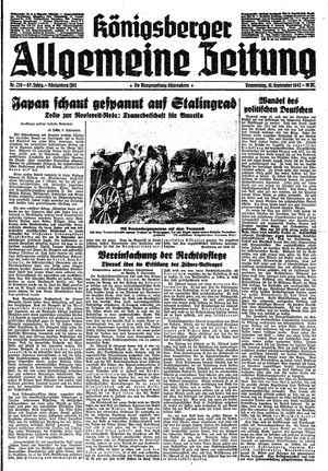 Königsberger allgemeine Zeitung vom 10.09.1942