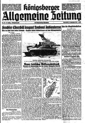 Königsberger allgemeine Zeitung on Sep 12, 1942