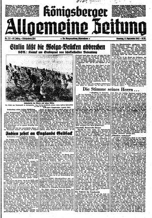 Königsberger allgemeine Zeitung vom 13.09.1942
