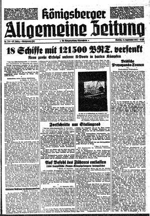 Königsberger allgemeine Zeitung vom 14.09.1942